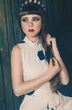 Heldere modieuze prinseskroon Stock Foto's