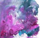 Heldere mooie geschilderde textuur met verven Royalty-vrije Stock Afbeelding