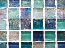 Heldere mozaïektextuur van muurtegels royalty-vrije stock foto