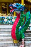 heldere multi-colored Chinese draak - het traditionele symbool van Stock Afbeelding