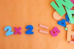 Heldere multi-colored cijfers Stock Foto's