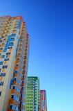 Heldere multi-colored huizen Royalty-vrije Stock Afbeelding