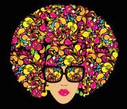 Heldere multi-coloured manierillustratie. vector illustratie
