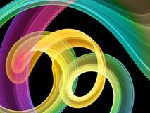 Heldere multicolored wervelingen royalty-vrije illustratie