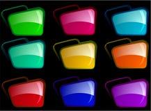 Heldere omslagen met verschillende kleurencombinatie Stock Foto