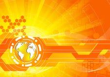 Heldere oranje achtergrond vector illustratie