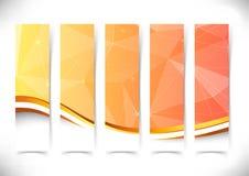 Heldere oranje de vliegers gouden grens van de kristalstructuur Stock Foto's