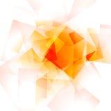 Heldere oranje geometrische glanzende achtergrond Royalty-vrije Stock Foto
