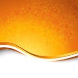 Heldere oranje het deeltjesachtergrond van de swooshgolf Royalty-vrije Stock Afbeelding