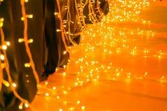 Heldere Oranje LEIDENE Feelichten voor een een Kerstmispartij of Hallowee stock foto's
