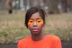 Heldere Oranje Samenstelling Stock Foto