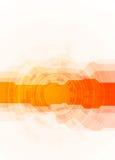 Heldere oranje technologieachtergrond Stock Fotografie