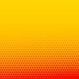 Heldere oranjegele grappige stijl halftone achtergrond vector illustratie
