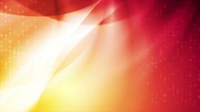 Heldere oranjerode samenvatting gebogen golven videoanimatie