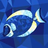 Heldere overzeese vissen in abstracte techniek Royalty-vrije Stock Afbeelding