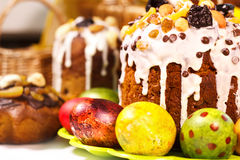 Heldere Pasen-cakes Stock Foto