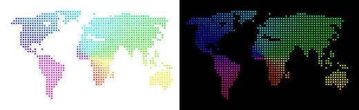 Heldere Pixelated-Wereldkaart vector illustratie