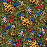 Heldere psychedelische vector naadloze textuur Stock Afbeelding