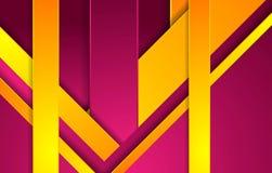 Heldere purpere en oranje abstracte collectieve achtergrond vector illustratie