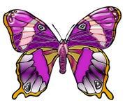 Heldere purpere vlinder Royalty-vrije Stock Afbeeldingen