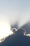 Heldere rand van wolk Stock Foto