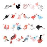 Heldere reeks vogels royalty-vrije illustratie
