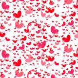Heldere rode liefdeharten Royalty-vrije Stock Foto's