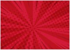 Heldere rode retro grappige achtergrond Royalty-vrije Stock Foto