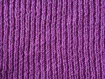 Heldere roze lilac wol met de hand gebreide textuur abstracte achtergrond Stock Afbeelding