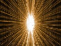 Heldere ruimteexplosie in zwarte ruimte royalty-vrije stock afbeelding