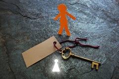 Heldere sleutelgatmens stock afbeeldingen