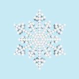 Heldere sneeuwvlok met parels, vectorillustratie Royalty-vrije Stock Foto's