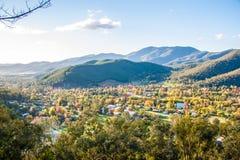Heldere stad in Australië Stock Foto
