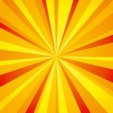 Heldere stralenachtergrond (sinaasappel) Stock Foto