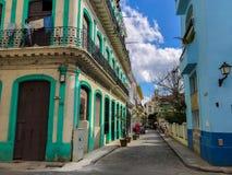 Heldere straten van Havana, Cuba stock fotografie