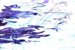 Heldere stromende Inkt blauwe kleuren op witte achtergrond Modern marmeren, groot ontwerp voor om het even welke doeleinden Vloei stock illustratie