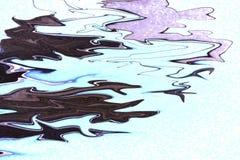 Heldere stromende Inkt donkere kleuren op witte achtergrond Modern marmeren, groot ontwerp voor om het even welke doeleinden Vloe royalty-vrije illustratie