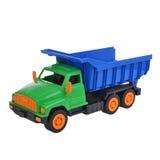 Heldere stuk speelgoed vrachtwagen Stock Foto