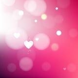 Heldere vage roze liefdeachtergrond stock illustratie