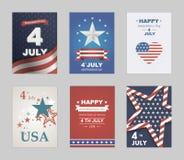 Heldere vector aan de Onafhankelijkheidsdag Stock Afbeeldingen