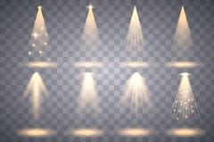 Heldere verlichting met schijnwerpers royalty-vrije illustratie