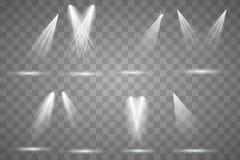 Heldere verlichting met schijnwerpers vector illustratie