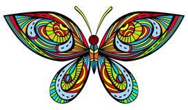 Heldere vlinder vector illustratie
