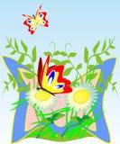 Heldere vlinders royalty-vrije illustratie