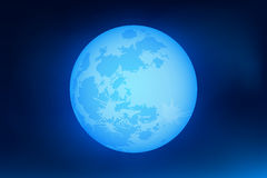 Heldere volle maan bij nacht Heldere achtergrond Vector illustratie Stock Foto