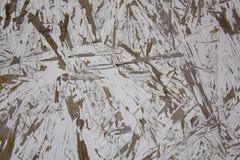 Heldere witte houtvezelplaat met geslagen verf Ruwe Oppervlaktetextuur royalty-vrije stock afbeelding