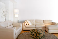 Heldere woonkamer Royalty-vrije Stock Afbeelding
