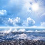 Heldere zonnestralen Royalty-vrije Stock Fotografie
