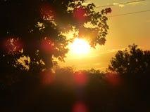 Heldere Zonsondergang Stock Afbeelding