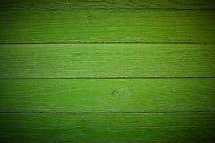 Heldergroene houten structuurmacro als achtergrondtextuur vignet Royalty-vrije Stock Foto